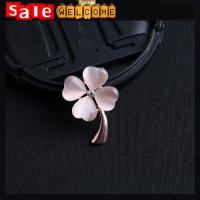 Buy cheap Opal Four Leaf Clover Pink White Brooch ,Golden Crystal значки Brooch Pin Garment Pin Gift from wholesalers