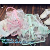 Buy cheap backpack wholesale with padded straps, Promotional Transparent PVC School Backpack with Customized Logo Clear Children B from wholesalers