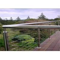 Buy cheap Round Post Horizontal Stainless Steel Deck Cable Railing With Steel Pipe Handrail from wholesalers