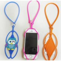 Buy cheap Promotional gifts cartoon cellphone silicone sling rope mobile phone holder lanyard from wholesalers