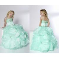 Buy cheap Ball Gown Spaghetti Pick-Ups Floor Length Little Girl Pageant Dresses With Beads from wholesalers