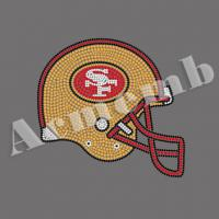 Buy cheap Wholesale SF 49ers Rhinestone Heat Transfer Crystal Stones For Clothes Decoration from wholesalers