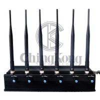 Buy cheap LOJACK Portable Cell Phone Jammer 6 Antennas Multi Bands Adjustable Power from wholesalers