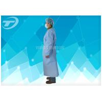 Buy cheap PE coated SBPP fabric Disposable Isolation Gowns with different color from wholesalers