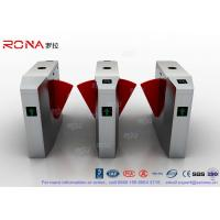 Buy cheap 3 Lanes Swing Barrier Gate Card Collector For Biometric Access Control With Face Recognition System product