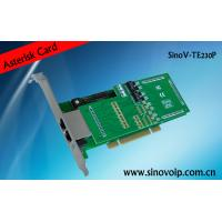 Buy cheap 2X E1/T1 interfaces  2 E1/T1 asterisk card 2U calss from wholesalers