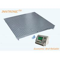 Buy cheap Gray 1.2x1.2m Wireless Floor Scale , Industrial Floor Weighing Scales With Weight Indicator from wholesalers