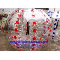Buy cheap Professional Inflatable Body Bumper Ball Customized With Red / Blue Dots from wholesalers