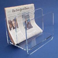 Buy cheap Countertop Clear Acrylic Brochure Holders / Custom Lucite Magazine Holder from wholesalers
