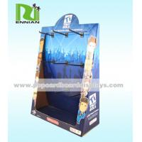 Peg Hook Corrugated Cardboard Counter Displays Fashion Point Of Sale Display