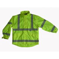 Buy cheap Waterproof and Breathable High Visibility Safety Jacket with Polyester Mesh Lining from wholesalers