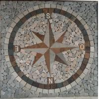 Buy cheap Feature mosaic natural stones tiles in direction Pattern for Floor tile from wholesalers