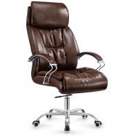 Tan Leather Executive Boardroom Chairs , Big Executive Office Desk Chair