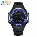 Buy cheap Silicone azan wrist watch for muslim prayer time qibla compass Hijri and Gregorian calendar watch from wholesalers