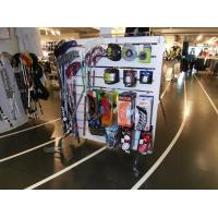 Buy cheap Grocery store sports equipment slatwall display stand storage racks MDF laminated from wholesalers