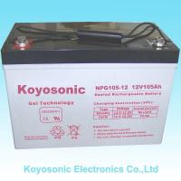 Buy cheap High Quality 12V105Ah Sealed Lead Acid/VRLA Industrial Battery With GEL (NPG105-12) from wholesalers