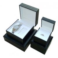 Buy cheap Decorating Black Gift Watch Packaging Box 4 * 4 * 3.5 Inch With Pu Leather product