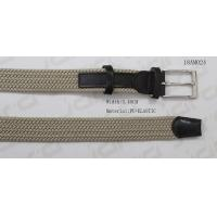 Buy cheap 3.4cm Sand Polyester Mens Stretch Belts With Elastic Tape / Double Loops Decoration from wholesalers