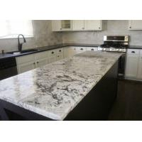 Buy cheap Natural Grey Stripe Marble Slab Kitchen Countertops Full Bullnose 78X25-1/2 from wholesalers