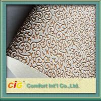 Buy cheap Embossed Synthetic Waterproof Bag PVC Artificial Leather for wall decoration product