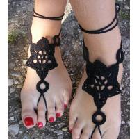Buy cheap Barefoot Sandals, Nude shoes, Foot Jewelry, Wedding, Victorian Lace, Sexy, Anklet , Bellyd from wholesalers