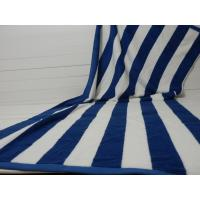 Buy cheap Factory Supply 100% cotton Yarn Dyed Jacquard Heavy Blue Stripe Pool Towel product