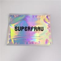 Buy cheap Laser Holographic Film Grip Seal Bags Zip Lock Customized Logo For Cosmetics from wholesalers