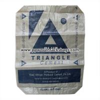 Buy cheap Recycled Laminated PP Cement Packing Bags / 50kgs Printed Woven Valve Bag Sacks from wholesalers