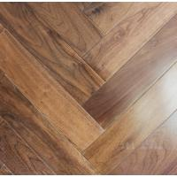 Buy cheap American Walnut Fishbone wooden floors, American walnut herringbone  flooring from wholesalers