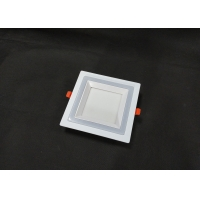 Buy cheap Factory Mould Hight Lumens 6+3W Square Double Color Panel downlight from wholesalers
