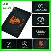Buy cheap Soft silicone rectangle shape mobile phone anti-slip mat used on car from wholesalers