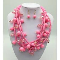 Buy cheap Fashion Exporting designs Acrylic Bead African Beads Jewelry Set Multi layer Necklace And Earring Set from wholesalers