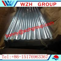 Buy cheap 0.16 800 mm  galvanized corrugated steel sheet / metal roofing sheet from wholesalers