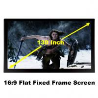 Buy cheap High Gain 130 Inch Flat Fixed Frame Projection Screen 3D Display Projector Fabric 16:9 from wholesalers