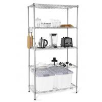 Buy cheap H173 Simple Design Metal Display Shelf Carbon Steel Beautifully Silver - Finished from wholesalers