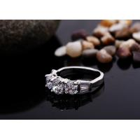 Buy cheap Shining Cubic Zircon Crystal Wedding Rings for Female from wholesalers