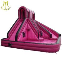 Buy cheap Hansel low price inflatable slide slippers with swimming pool supplier in Guangzhou from wholesalers