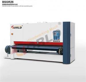 China One-Head/ Three-Head 2600mm Width Wide Belt Sander, BSGR26 & BSGR-R-RP26 on sale