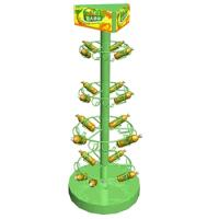 Buy cheap 3 tier looped hook wire counter spinner display rack from wholesalers