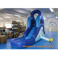 Buy cheap CE UL Blue Commercial Inflatable Slide , Indoor Small Kids Water Slide from wholesalers