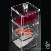 Buy cheap clear acrylic cosmetics organizer from wholesalers