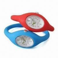 Buy cheap Silicone Analog Wristwatch with Japan Quartz Movement, Leisure Design, OEM Order from wholesalers