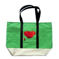 Buy cheap Customized Green Non Woven Grocery Bags with Silk Screen Printed Logo from wholesalers