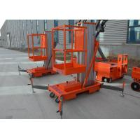 Buy cheap Aerial Work Platform Lifter For Painting Incline Aluminium Alloy Electric Hydraulic Mast Telescopic Lift from wholesalers