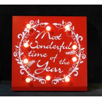 Buy cheap Christmas decorative lighting wooden light boxes hand crafts from wholesalers