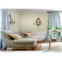 Buy cheap Waterproof Damask Removable Wallpaper Flower Pattern With Vinyl Coated Paper from wholesalers
