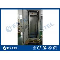 """Quality 19"""" Rack Double Wall Heat Insulation Outdoor Telecom Cabinet With Air Conditioner for sale"""