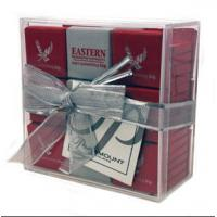 Buy cheap Environmental acrylic display case , acrylic gift case with lid from wholesalers