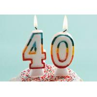 Buy cheap Glitter Number Birthday Candles , 40th Anniversary Cake Candles Food Grade product