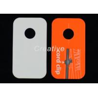 Buy cheap Fashional Jewelry Silk Screen Plastic Luggage Tags With 350GSM Paper product